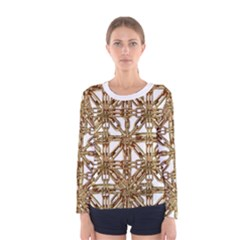 Chain Pattern Print Long Sleeve T-shirt (women)