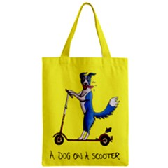 A Dog On A Scooter Classic Tote Bag by retz