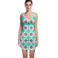 Floral Pattern On A Blue Background Bodycon Dress by LalyLauraFLM