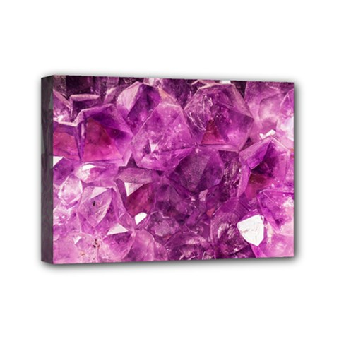 Amethyst Stone Of Healing Mini Canvas 7  X 5  (framed) by FunWithFibro