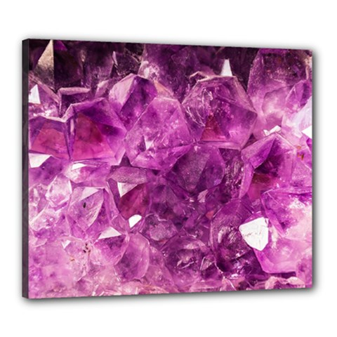 Amethyst Stone Of Healing Canvas 24  X 20  (framed) by FunWithFibro