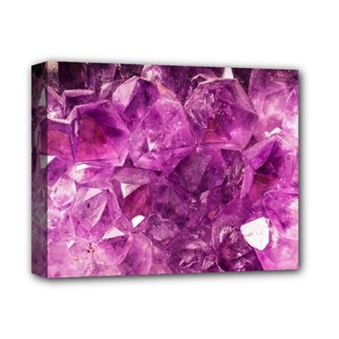 Amethyst Stone Of Healing Deluxe Canvas 14  X 11  (framed) by FunWithFibro