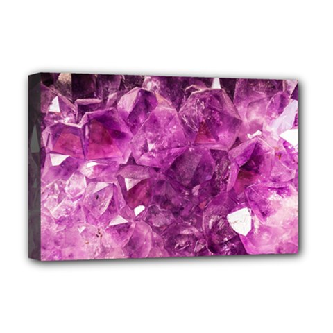 Amethyst Stone Of Healing Deluxe Canvas 18  X 12  (framed) by FunWithFibro
