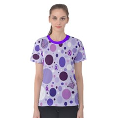 Purple Awareness Dots Women s Cotton Tee by FunWithFibro