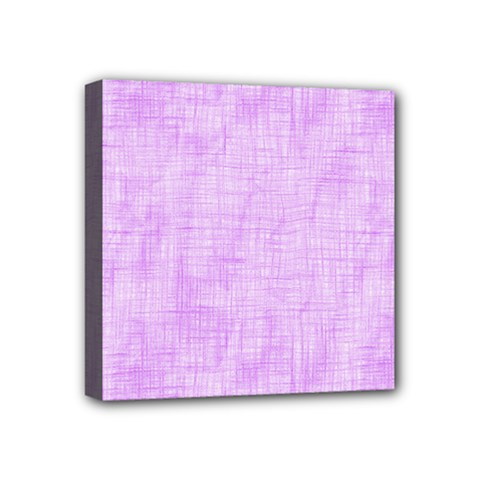 Hidden Pain In Purple Mini Canvas 4  X 4  (framed) by FunWithFibro