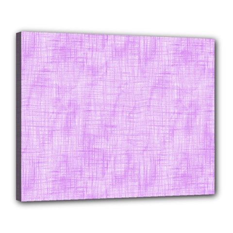 Hidden Pain In Purple Canvas 20  X 16  (framed) by FunWithFibro