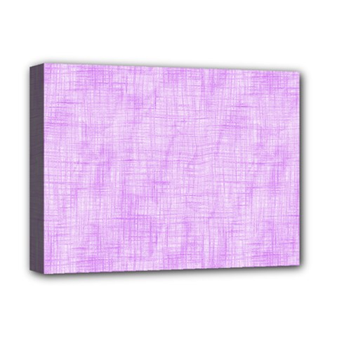 Hidden Pain In Purple Deluxe Canvas 16  X 12  (framed)  by FunWithFibro