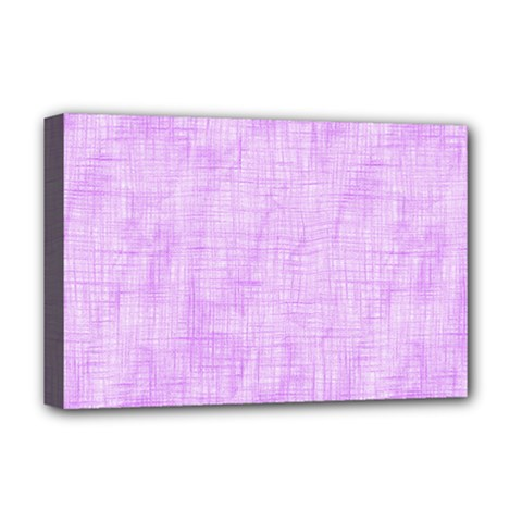 Hidden Pain In Purple Deluxe Canvas 18  X 12  (framed) by FunWithFibro