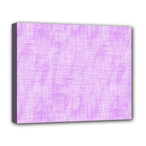 Hidden Pain In Purple Deluxe Canvas 20  X 16  (framed) by FunWithFibro
