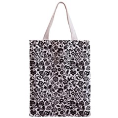 Elegant Glittery Floral Classic Tote Bag by StuffOrSomething