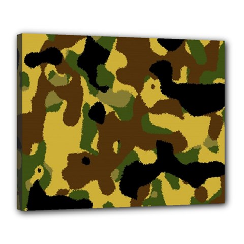 Camo Pattern  Canvas 20  X 16  (framed) by Colorfulart23