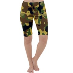 Camo Pattern  Cropped Leggings