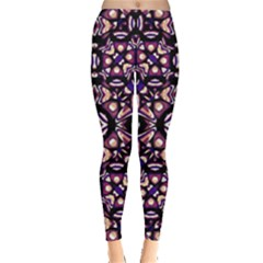Colorful Tribal Geometric Print Leggings  by dflcprintsclothing