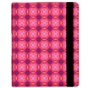 Abstract Pink Floral Tile Pattern Samsung Galaxy Tab 8.9  P7300 Flip Case View2