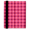 Abstract Pink Floral Tile Pattern Samsung Galaxy Tab 8.9  P7300 Flip Case View3