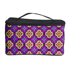 Purple Decorative Quatrefoil Cosmetic Storage Case by creativemom