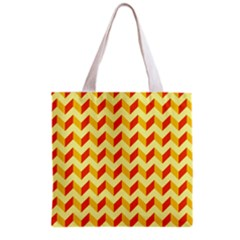 Modern Retro Chevron Patchwork Pattern  Grocery Tote Bag by creativemom