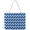 Tiffany Blue Modern Retro Chevron Patchwork Pattern Tiny Tote Bag View1