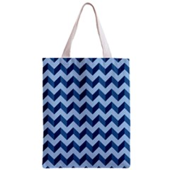 Tiffany Blue Modern Retro Chevron Patchwork Pattern Classic Tote Bag by creativemom