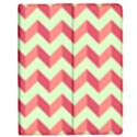 Mint Pink Modern Retro Chevron Patchwork Pattern Apple iPad 2 Flip Case View1