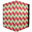 Mint Pink Modern Retro Chevron Patchwork Pattern Apple iPad 2 Flip Case View4