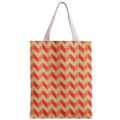 Modern Retro Chevron Patchwork Pattern Classic Tote Bag by creativemom
