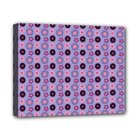 Cute Floral Pattern Canvas 10  X 8  (framed) by creativemom