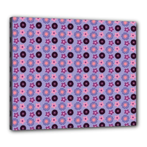 Cute Floral Pattern Canvas 24  X 20  (framed) by creativemom