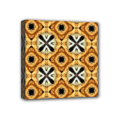 Faux Animal Print Pattern Mini Canvas 4  X 4  (framed) by creativemom