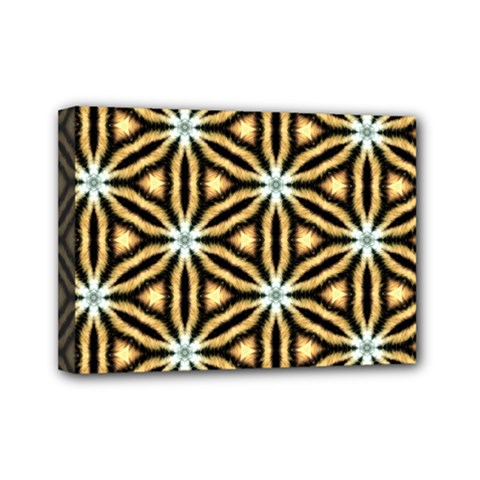 Faux Animal Print Pattern Mini Canvas 7  X 5  (framed) by creativemom