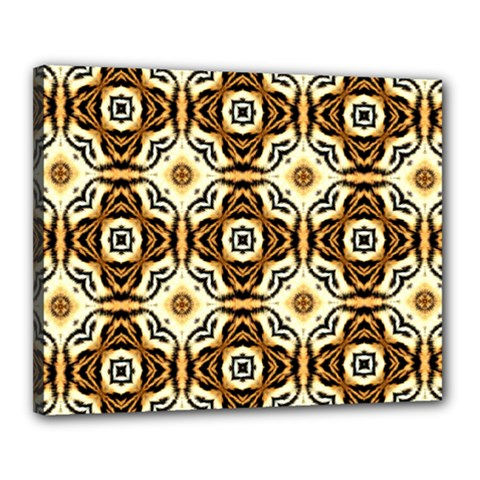 Faux Animal Print Pattern Canvas 20  X 16  (framed)