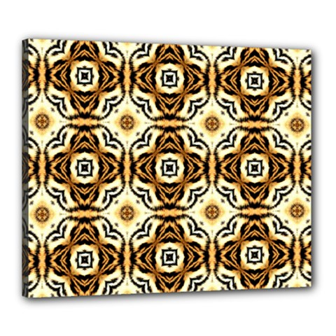 Faux Animal Print Pattern Canvas 24  X 20  (framed) by creativemom
