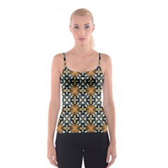 Faux Animal Print Pattern Spaghetti Strap Top