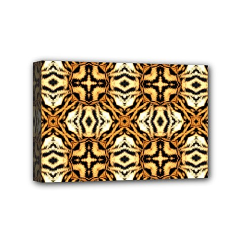Faux Animal Print Pattern Mini Canvas 6  X 4  (framed) by creativemom