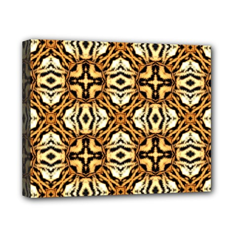 Faux Animal Print Pattern Canvas 10  X 8  (framed) by creativemom