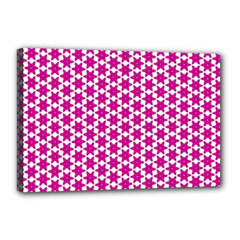 Cute Pretty Elegant Pattern Canvas 18  X 12  (framed) by creativemom
