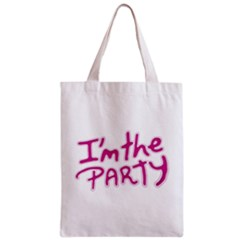 I Am The Party Typographic Design Quote Classic Tote Bag by dflcprints