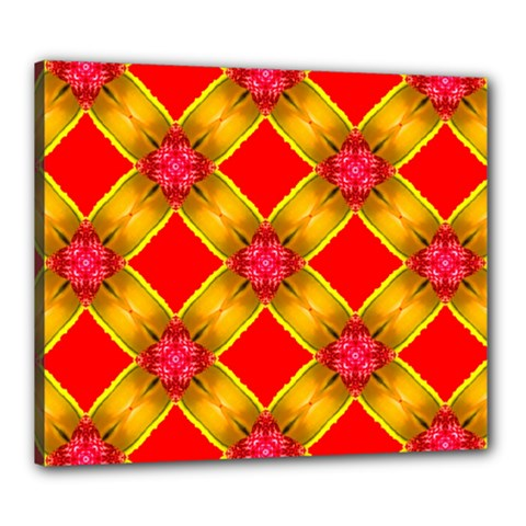 Cute Pretty Elegant Pattern Canvas 24  x 20  (Framed)