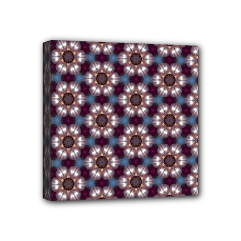 Cute Pretty Elegant Pattern Mini Canvas 4  X 4  (framed) by creativemom