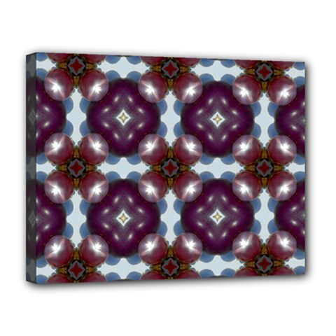 Cute Pretty Elegant Pattern Canvas 14  X 11  (framed) by creativemom