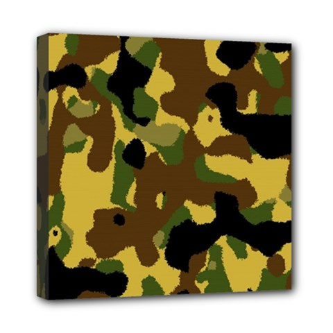 Camo Pattern  Mini Canvas 8  X 8  (framed) by Colorfulart23