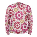 Floral Print Collage Pink Men s Sweatshirt View1