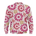 Floral Print Collage Pink Men s Sweatshirt View2