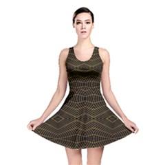 Futuristic Geometric Design Reversible Skater Dress by dflcprintsclothing