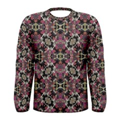 Floral Arabesque Print Long Sleeve T-shirt (men) by dflcprintsclothing