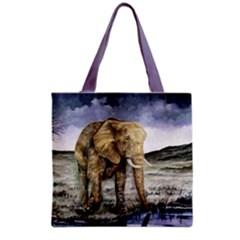 Elephant Grocery Tote Bag 16  X 16  by ArtByThree