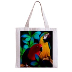 Two Friends Grocery Tote Bag by JulianneOsoskeFeathers
