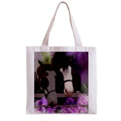 Two Horses Grocery Tote Bag by JulianneOsoske