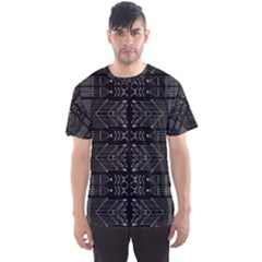 Black And White Tribal Print Men s Sport Mesh Tee by dflcprintsclothing