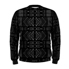 Black And White Tribal Print Men s Sweatshirt by dflcprintsclothing